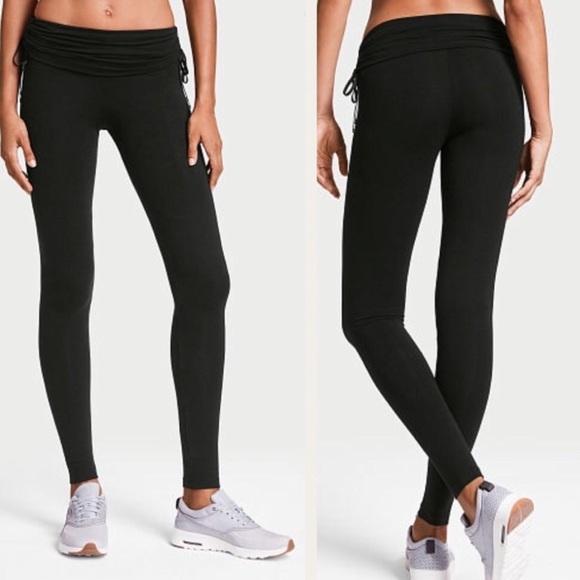 18d9819b51c057 Victoria's Secret Pants | Vs Black Anytime Highrise Ruched Leggings ...